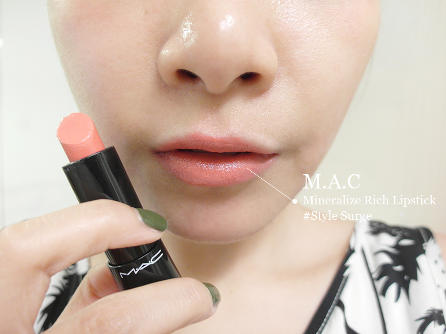 Make up - orange - lipstick - 08 - MAC -  mineralize rich lipstick - style surge