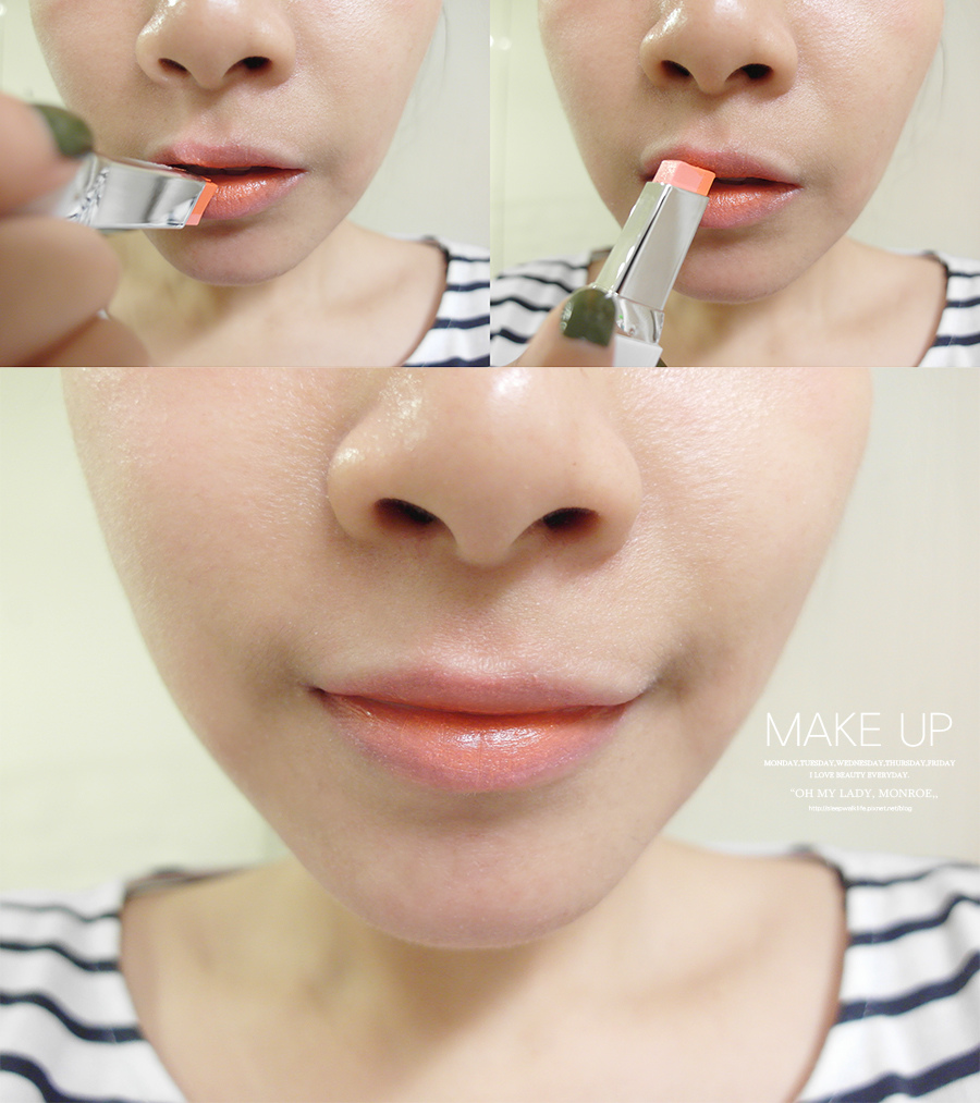 Make up - orange - lipstick - 14 - laneige - two tone lip bar - 3 pink salmon