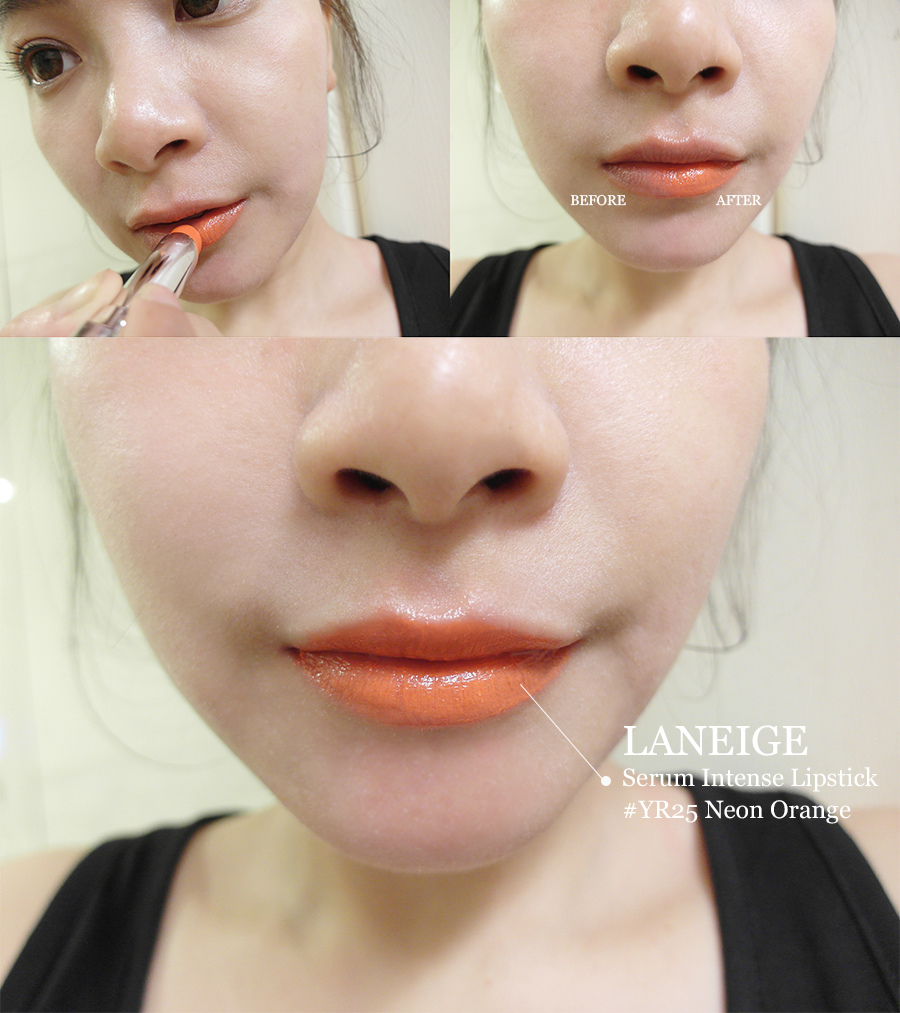 Make up - orange - lipstick - 17 - laneige - serum intense lipstick - yr25 - Neon Orange
