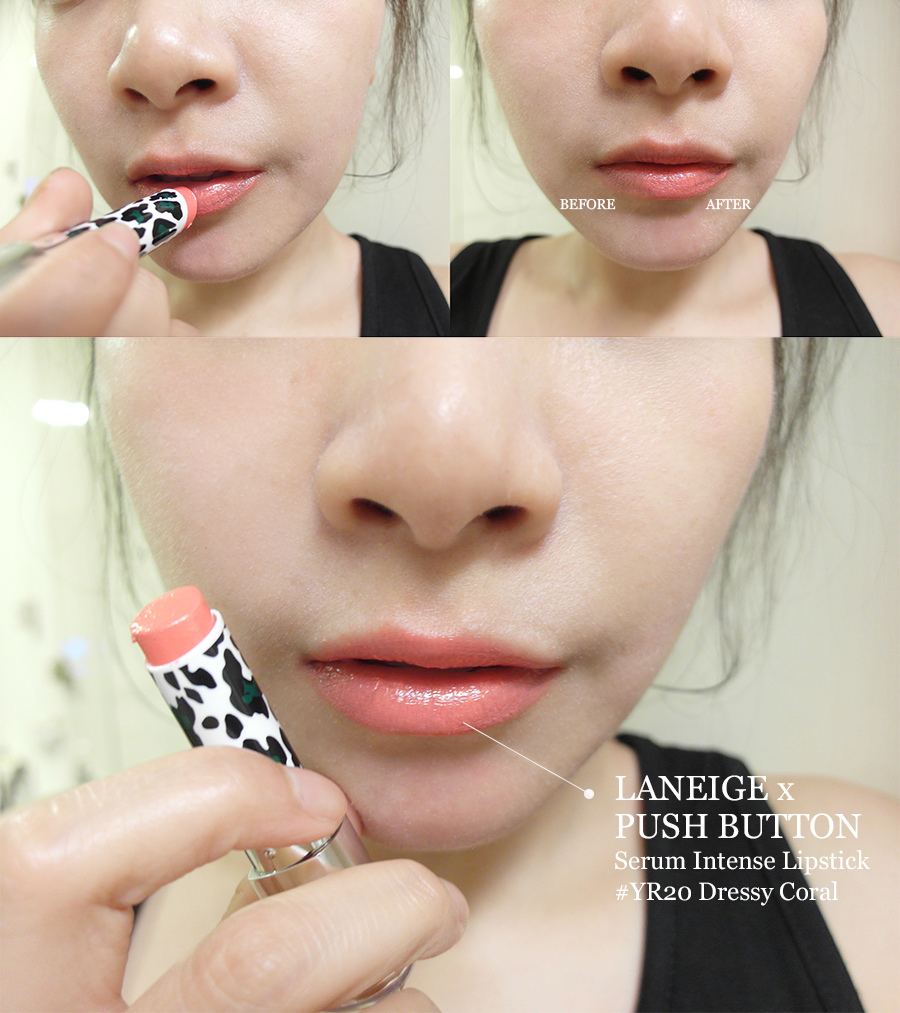 Make up - orange - lipstick - 20 - laneige - push button - serum intense lipstick -  yr20 - dressy coral