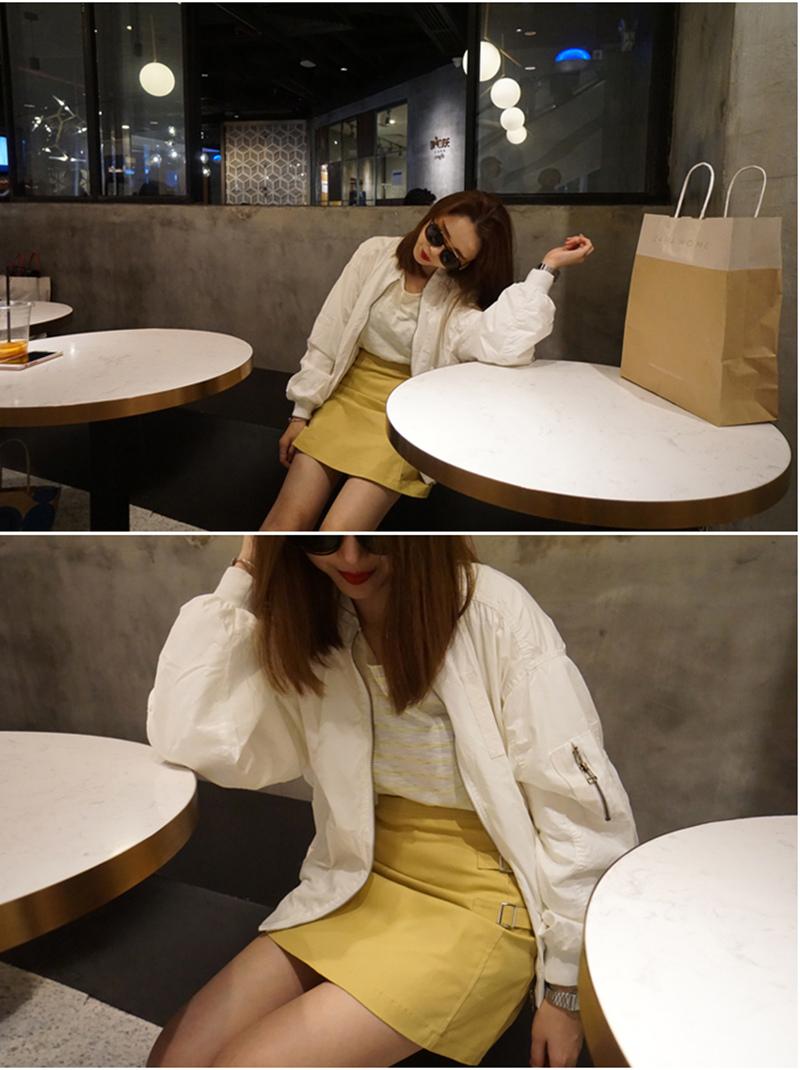 瘦竹竿2016春季新款韓國妹紙必備的性價比立領飛行員夾克棒球外套