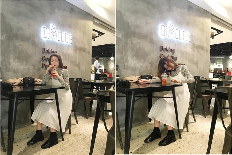 瘦竹竿獨家自制2016春夏韓國超仙清爽白色壓褶拼接吊帶連衣裙長裙