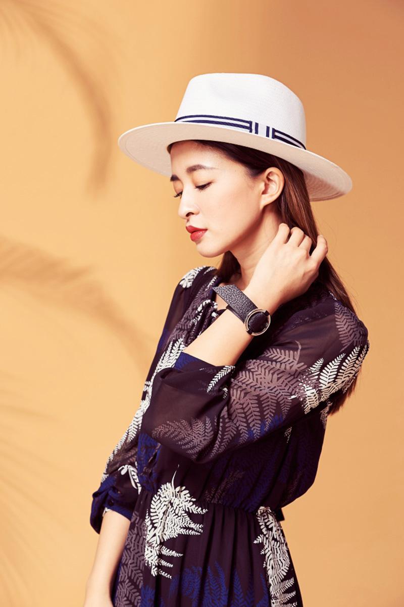 LOVE&LE 超挺藍條竹編紳士帽
