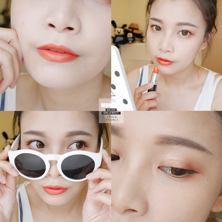 summer daily orange makeup - 03