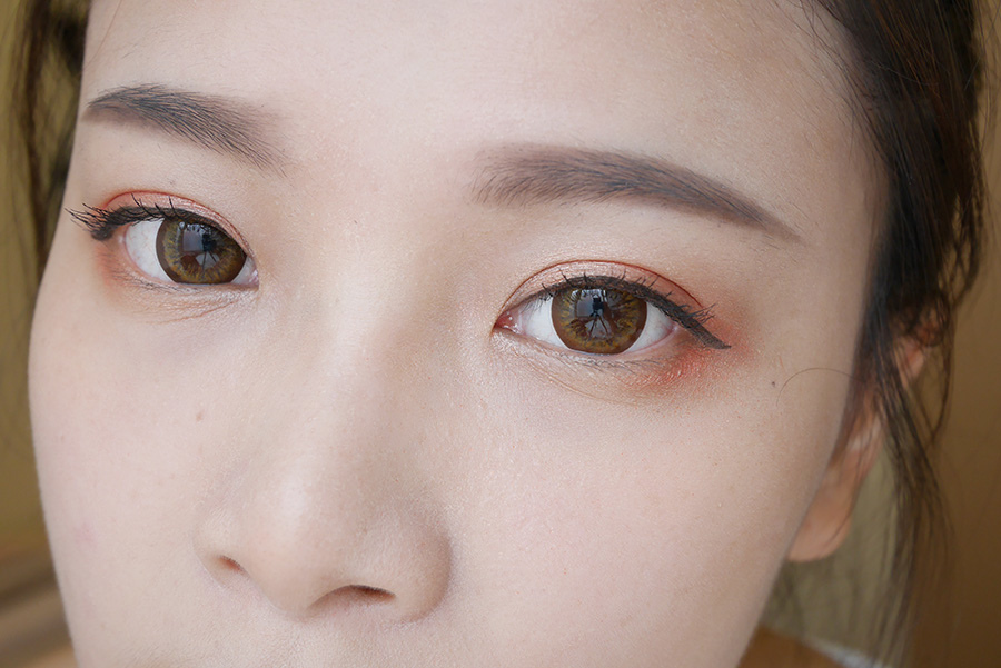 summer daily orange makeup - 05