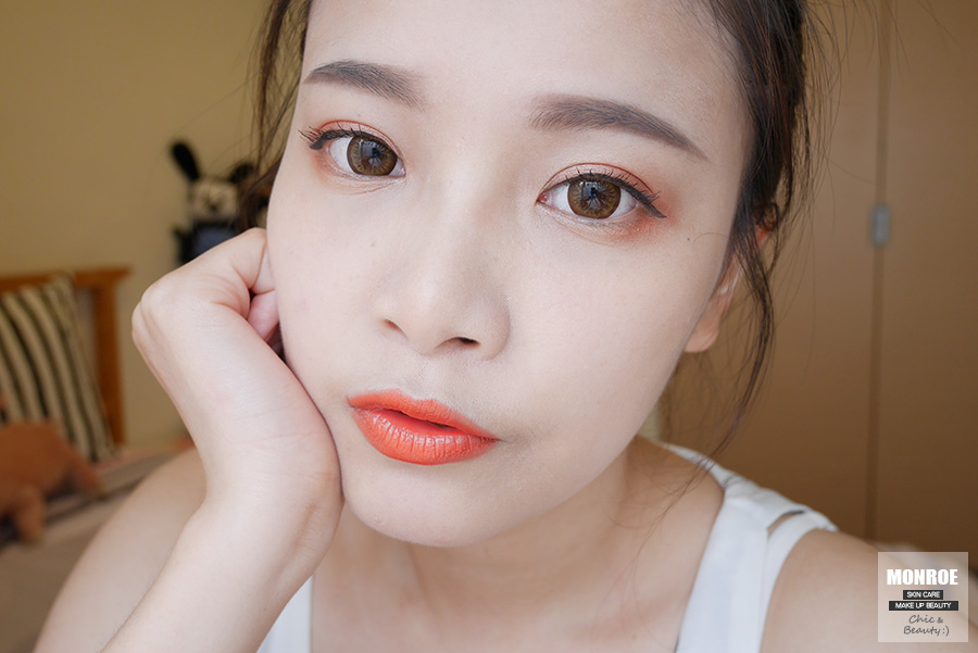 summer daily orange makeup - 07