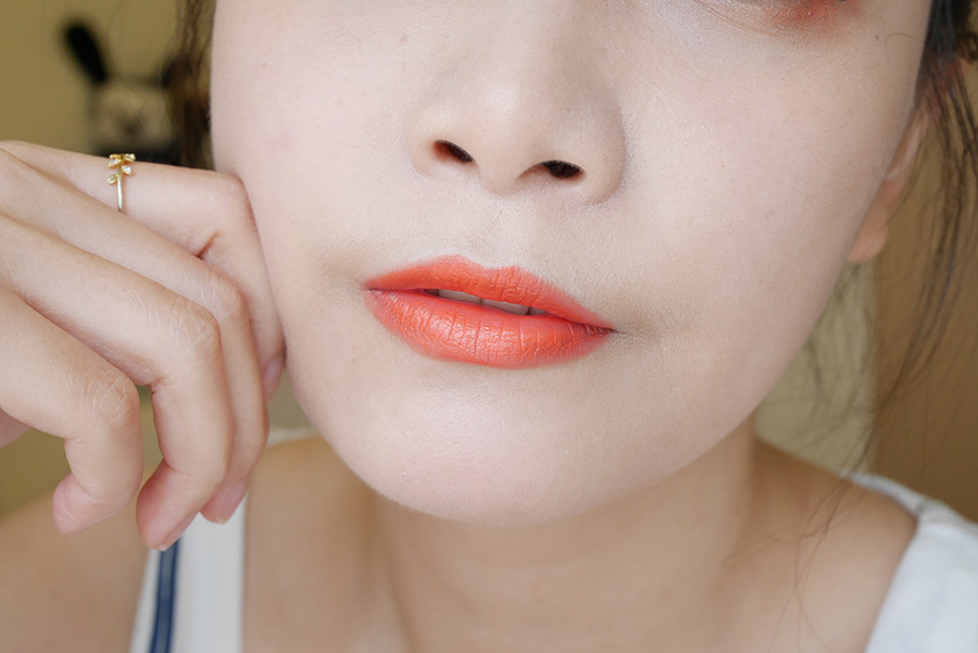 summer daily orange makeup - 06