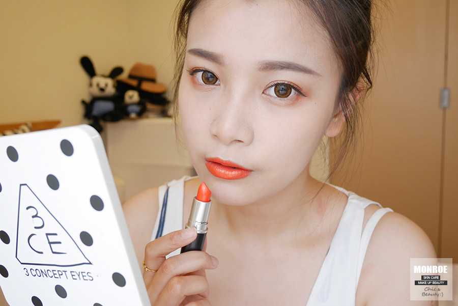 summer daily orange makeup - 08