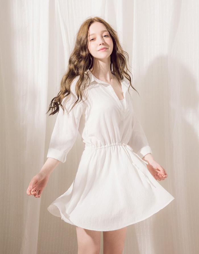 PAZZO 微甜氣質襯衫洋裝