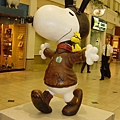 Snoopy in the airport