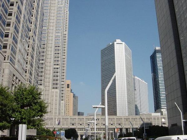 新宿的高樓大廈區