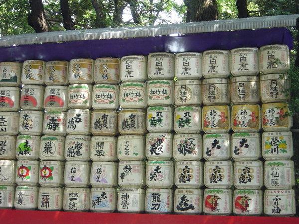 日本清酒桶展於明治神宮