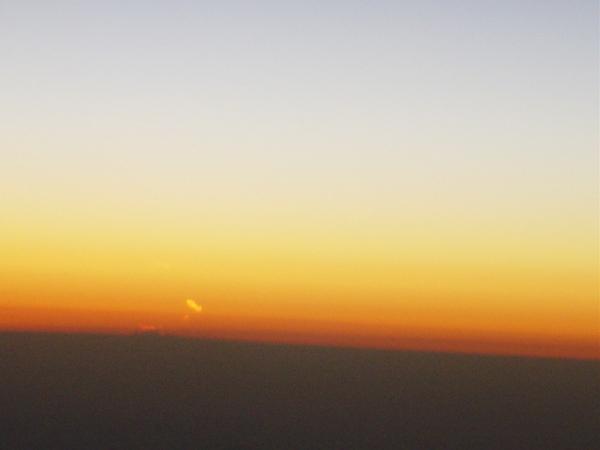 太陽漸漸沉下去