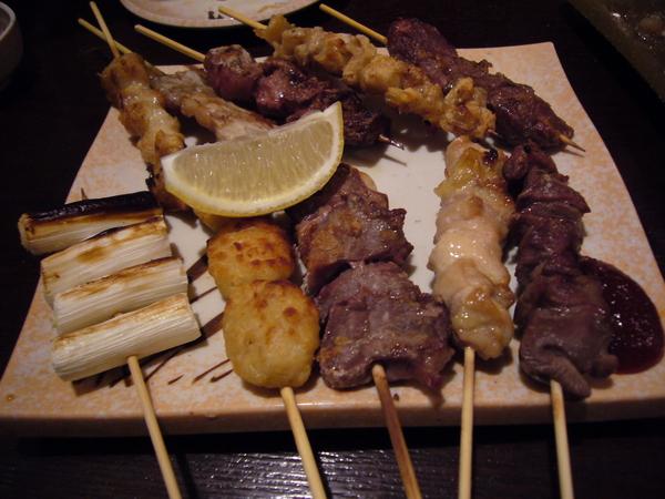 串燒拼盤 (鹽烤)