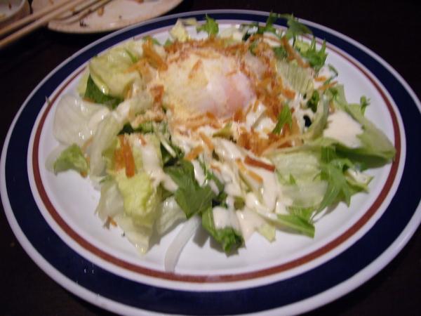 最後一道菜 -- 溫泉蛋凱撒沙拉