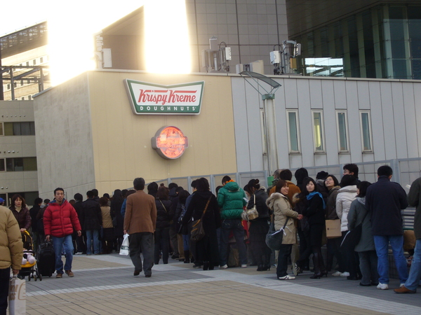 Krispy Kreme在日本造成風潮
