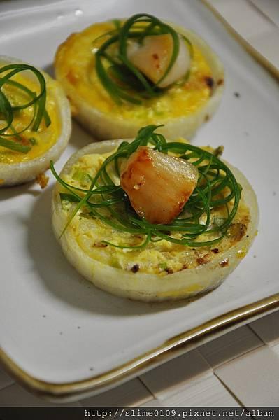 干貝洋蔥圈烤蛋01
