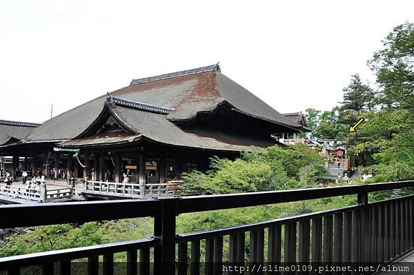 躲在清水寺後方的地主神社