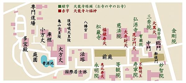 天龍寺平面圖
