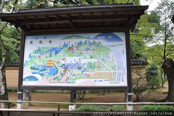 金閣寺平面圖