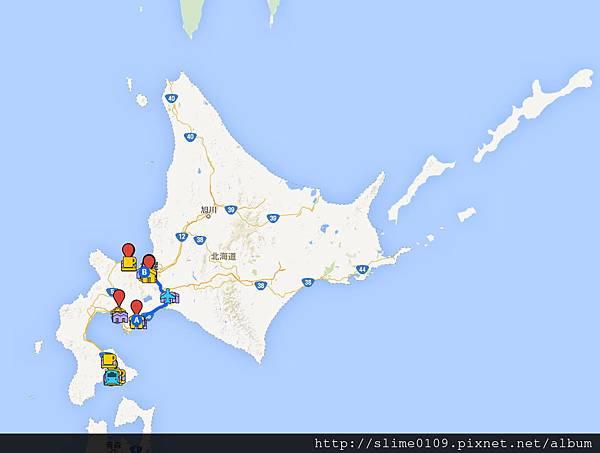 只玩了左下角的北海道