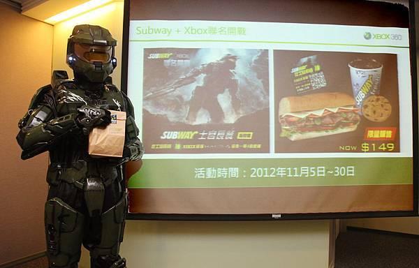 SUBWAY與Xbox聯名開戰推出士官長餐,點餐就有機會抽中最後一戰4限量主機。