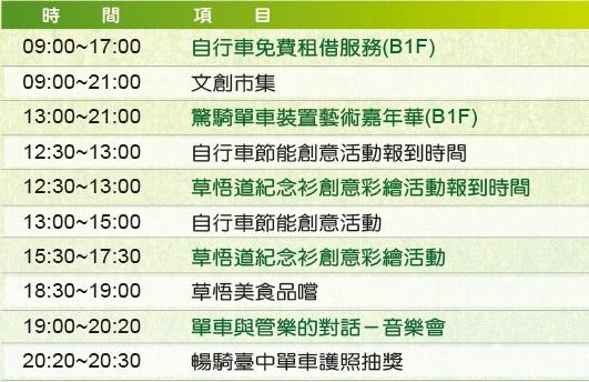 2013草悟道自行車嘉年華2