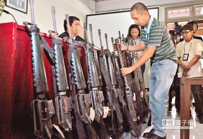 菲律賓展示槍