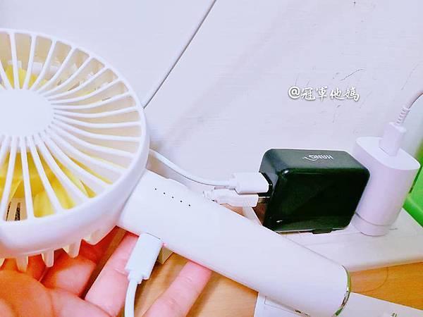 生活好物 冠軍他媽首開團HealthLife 手持電動擺頭風扇桌扇 USB充電式 五段風量 經典白 玫瑰粉 深海藍 療癒色系電風扇 居家 辦公室 推薦44.jpg