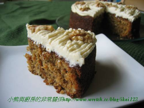 Ottolenghi's 核桃胡蘿蔔蛋糕