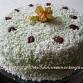 香蘭戚風蛋糕與椰糖咖呀霜飾