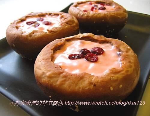 咖啡杯蔓越莓奶淇淋麵包