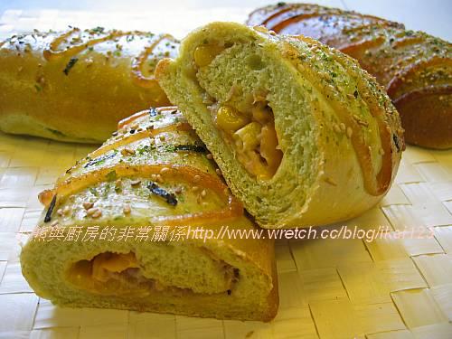 三島香鬆菠菜鮪魚麵包