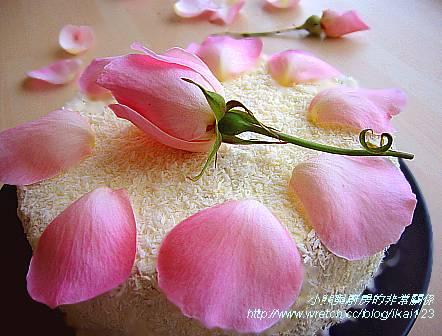 玫瑰香蘭戚風