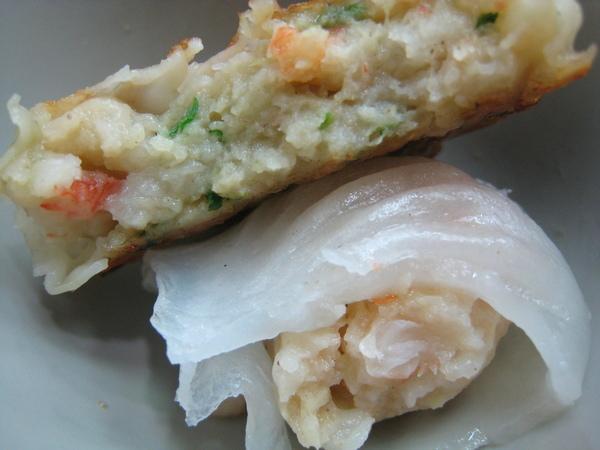 20080214-13 煎餅和蝦餃咬開的模樣
