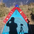 DAVID帳篷上 貼了喜氣洋洋的春聯