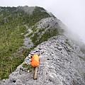登頂前裸岩區