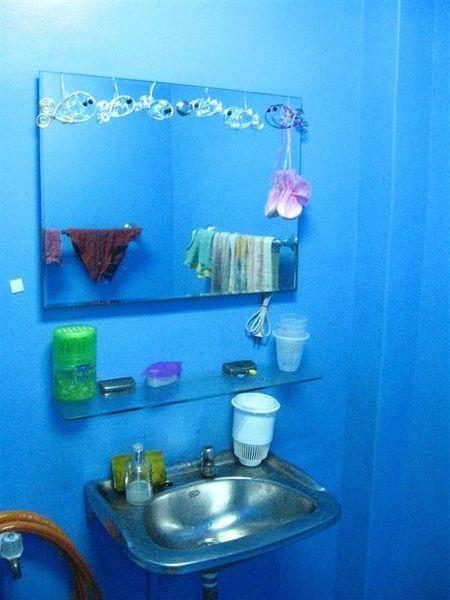單車店的廁所好藍 好藍
