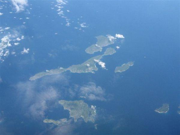 途中飛過菲律賓許多島嶼