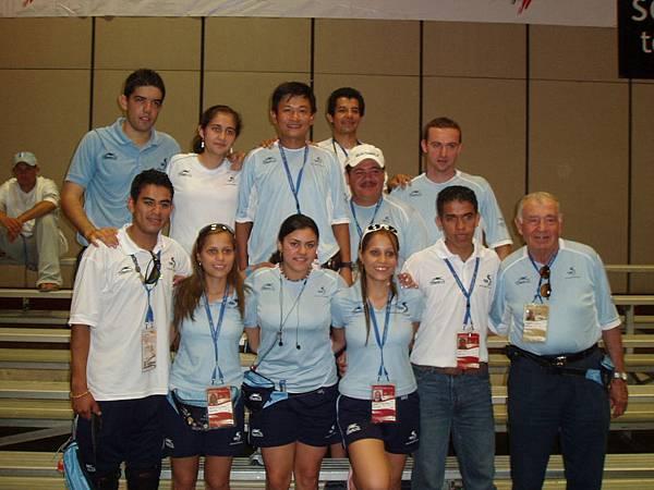 Clombia 帶隊到 哥倫比亞桌球錦標賽