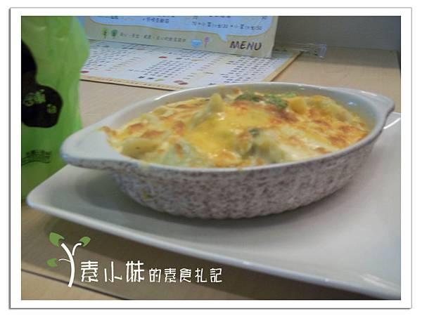 起司奶油焗烤 (蔬菜餃) 清蔬蔬食 台中素食蔬食食記.JPG