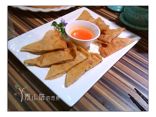 泰式月亮蝦餅 棗子樹蔬食餐廳 港式飲茶 台中西區素食蔬食食記