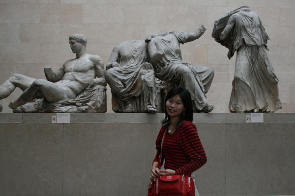 Parthenon scuptures 帕德嫩神廟的牆上雕刻遺蹟