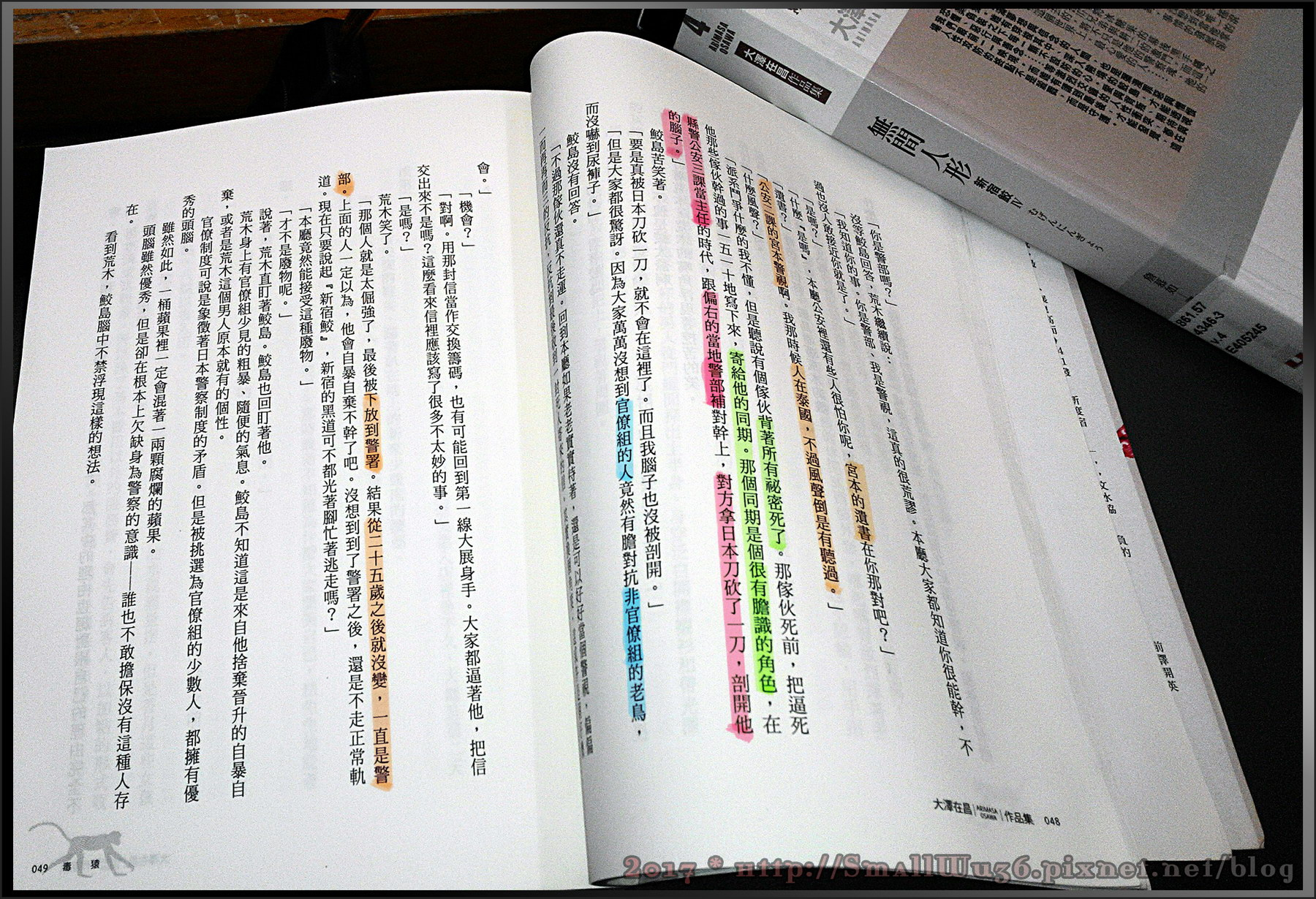 [小說] 大澤在昌(大沢在昌)《毒猿》《無形人間》(新宿鮫系列),皇冠文化-001.jpg