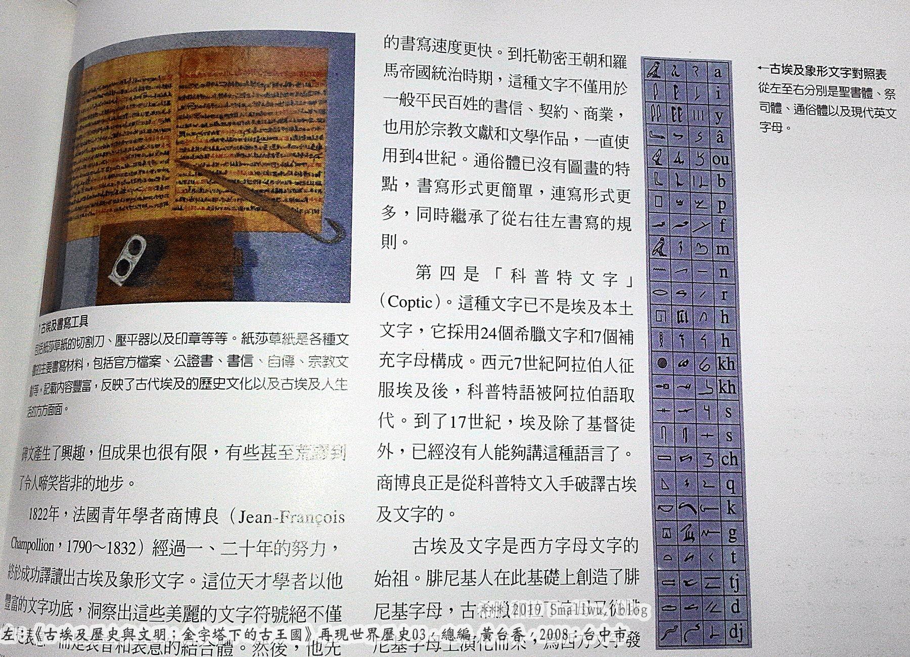 再現世界歷史3-古埃及歷史與文明_03 埃及象形文字-聖書體 祭司體 通俗體.jpg