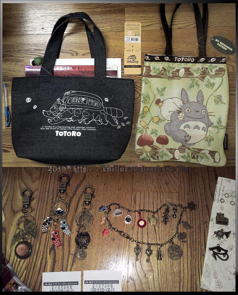 TOTORO龍貓刺繡手提袋,龍貓車托特包(A4), 羅亭組裝吊飾(中山地下街)--.jpg
