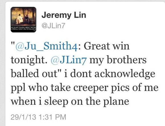 LIN推我不承認那個在飛機上趁我熟睡拍我醜照的人