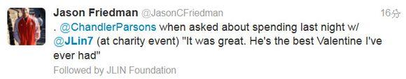 帕森斯也說小林是最佳情人
