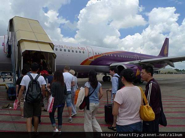 登機囉~準備前往柬埔寨