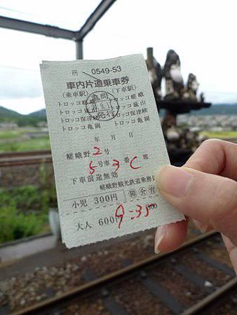 嵯峨野小火車乘車券